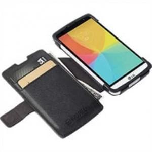 Krusell Tasche Malmö Folio Case Partner 76073 für LG F60 - schwarz