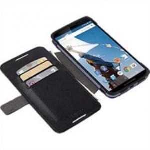 Krusell Tasche Malmö Folio Case 76078 für Motorola Nexus 6 - Schwarz