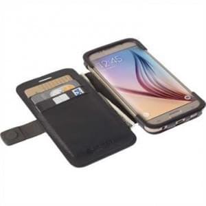 Krusell Tasche Malmö Folio Case 76120 für Samsung Galaxy S6, Galaxy S6 Edge - Schwarz