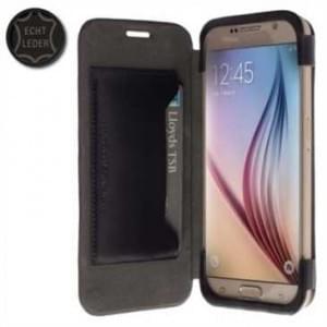Krusell Tasche Kiruna FlipCase 76125 für Samsung Galaxy S6, Galaxy S6 Edge - Schwarz