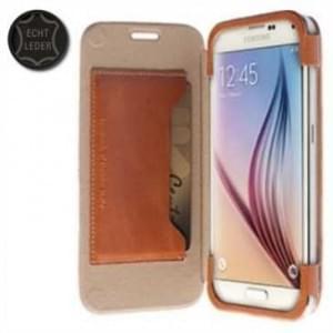 Krusell Tasche Kiruna FlipCase 76119 für Samsung Galaxy S6, Galaxy S6 Edge - Camel