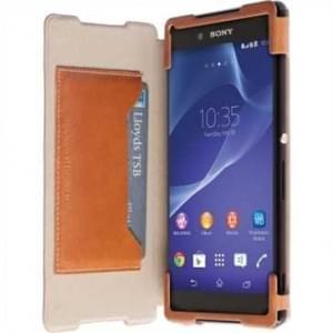 Krusell Tasche Kiruna FlipCase Partner 60203 für Sony Xperia Z3+, Xperia Z3+ Dual, Xperia Z4 - Camel