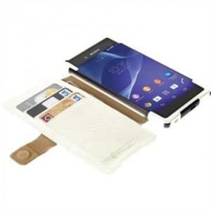 Krusell Tasche Malmö Folio Case Stand Partner 60206 für Sony Xperia Z3+, Z3+ Dual, Xperia Z4 - Weiß