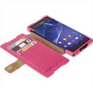 Krusell Tasche Malmö Folio Case Stand Partner 60205 für Sony Xperia Z3+, Z3+ Dual, Xperia Z4 - Rot