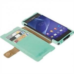 Krusell Tasche Malmö Folio Case Partner 60208 für Sony Xperia Z3+, Z3+ Dual, Xperia Z4 - Grün