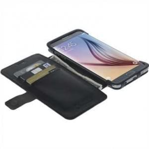 Krusell Tasche Malmö Folio Case 60396 für Samsung Galaxy S6 Edge+ - Schwarz