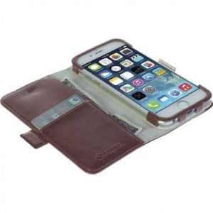 Krusell Tasche Ekerö FolioWallet 60448 für Apple iPhone 6, iPhone 6S - Cognac