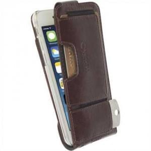 Krusell Tasche Ekerö Flexi FlipWallet 60446 für Apple iPhone 6, iPhone 6S - Coffee
