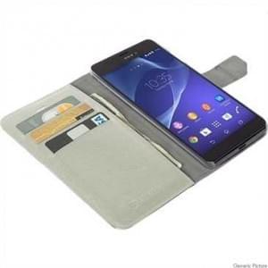 Krusell Tasche Boras Folio Wallet für Sony Xperia Z5 Compact Weiß