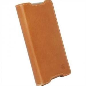 Krusell Tasche Kiruna Flip Case für Sony Xperia Z5 Compact - Camel