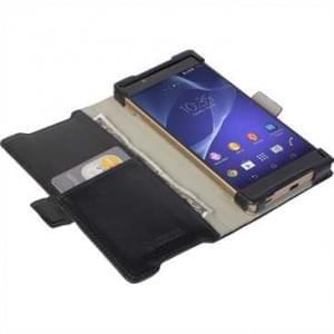 Krusell Tasche Ekerö Folio Wallet für Sony Xperia Z5 - Schwarz