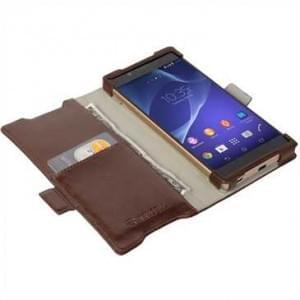Krusell Tasche Ekerö Folio Wallet für Sony Xperia Z5 Coffee