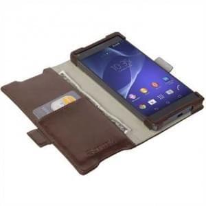 Krusell Tasche Ekerö FolioWallet Partner 60414 für Sony Xperia Z5 Compact - Coffee