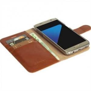 Krusell Tasche Ekerö Folio Wallet 2in1 für Samsung Galaxy S7 - Cognac