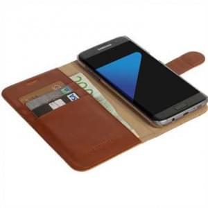 Krusell Tasche Ekerö FolioWallet 2in1 60572 für Samsung Galaxy S7 Edge - Cognac