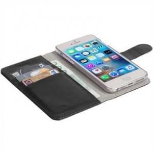 Krusell Tasche Ekerö Folio Wallet 2in1 60594 für Apple iPhone SE, iPhone 5S, iPhone 5 - Schwarz