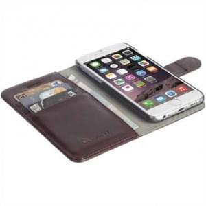 Krusell Tasche Ekerö Folio Wallet 2in1 für Apple iPhone 8 Plus / 7 Plus - Coffee