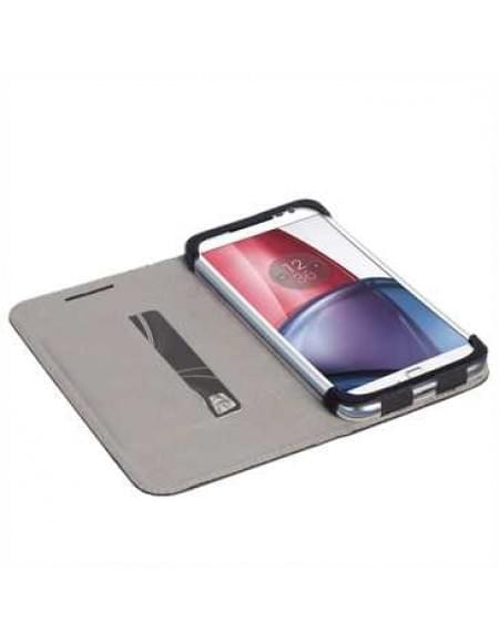 Krusell Tasche Malmö Folio Case 60774 für Motorola Moto G4, Moto G4 Plus - Schwarz