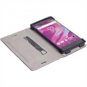 Krusell Tasche Malmö Folio für Sony Xperia X Compact - Schwarz
