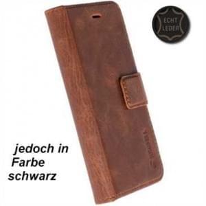 Krusell Echt Leder Tasche Sunne 5 Card Folio Case für Huawei P10 - schwarz