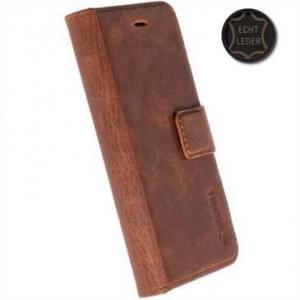 Krusell Echt Leder Tasche Sunne 5 Card Folio Case für Huawei P10 - braun