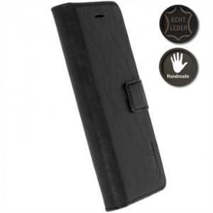 Krusell Echt Ledertasche Sunne 5 Card Folio Case für Samsung Galaxy S8 Plus - schwarz