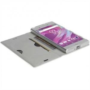 Krusell Malmö 4 Card Folio Case Tasche für Sony Xperia XA1 - 4 Kreditkartenfächer - weiß