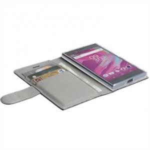 Krusell Tasche Icon 3 Card Folio case für Sony Xperia XA1 - Braun