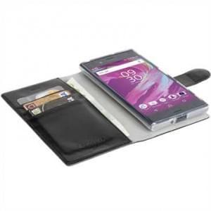 Krusell Tasche Ekerö Folio Wallet 2in1 für Sony Xperia XA1 Ultra - Schwarz