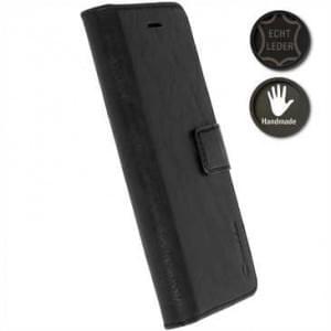 Krusell Echt Ledertasche Sunne 5 Card Folio Case für Sony Xperia XZ Premium - Schwarz