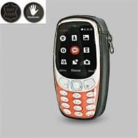 Krusell Tasche Classic Echt Leder für Nokia 3310 - schwarz / grau