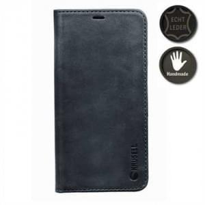 Krusell Echt Leder Handytasche Sunne 4 Card Folio Case für Apple iPhone X - schwarz