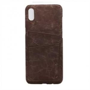 Krusell Tumba 2 Card Cover / Schutzhülle für Apple iPhone X - Brown Marble