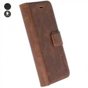 Krusell Echt Leder Tasche Sunne 4 Card Folio Case für Samsung Galaxy Note 8 - cognac