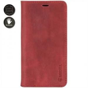 Krusell Echt Leder Tasche Sunne 4 Card Folio Case für Apple iPhone X - Red