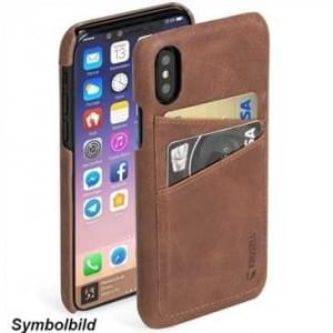 Krusell Sunne 2 Card Cover für Apple iPhone 8 Plus / 7 Plus - Vintage Cognac