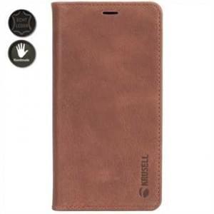 Krusell Echt Leder Tasche Sunne 4 Card Folio Case für Apple iPhone 8 / 7 - Vintage Cognac brown