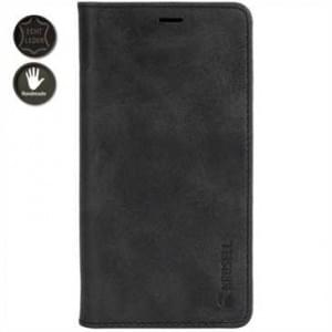 Krusell Echt Leder Tasche Sunne 4 Card Folio Case für Apple iPhone 8 / 7 - Vintage Black