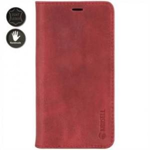 Krusell Echt Leder Tasche Sunne 4 Card Folio Case für Apple iPhone 8 / 7 - Vintage Red
