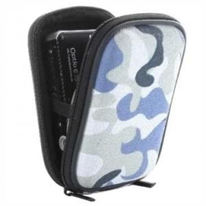 Kamera / Kompaktkamera Tasche, EVA Material/Nylon Oberfläche - Außen: 117x75x35 mm - Camouflage Grau