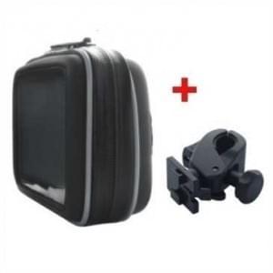 XiRRiX Outdoor Biker Taschen Set mit Halterung - für GPS Geräte bis 130 x 80 x 45 mm - 10,9cm (4,3