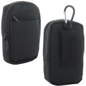 XiRRiX Kamera / Kompaktkamera Tasche aus Nylon - extra Fach - Innen 114 x 69 x 35,5 mm -  schwarz
