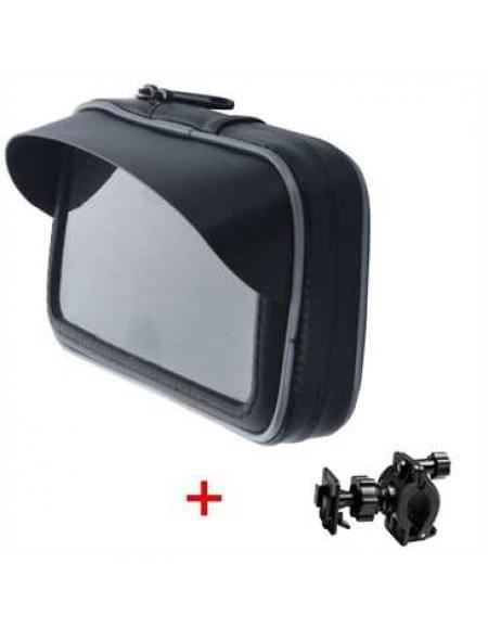 XiRRiX Outdoor Biker Taschen Set mit Sonnendach mit Halterung f. Smartphones bis Größe 123,8 x 60 mm