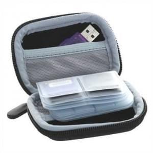 Hartschalen Tasche für Sim Karten / Speicherkarten - schwarz