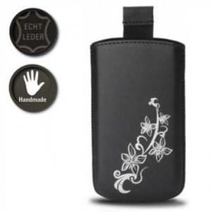 Valenta Pocket Lily 01 - Black - 647863 - Echt Leder Tache - Easy-Out-Band - schwarz