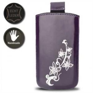 Valenta Pocket Lily 14 - Violet - 648044 - Echt Leder Tache - Easy-Out-Band - violet
