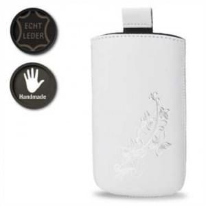 Valenta Pocket Lily 02 - White - 647917 - Echt Leder Tache - Easy-Out-Band - weiß