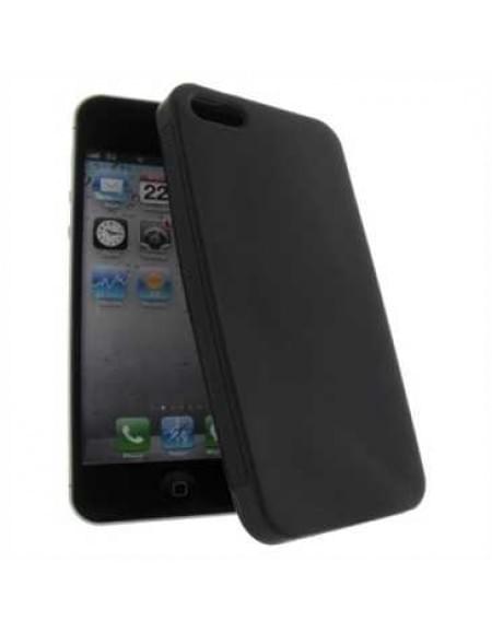 Premium Quality TPU Silikon Hülle Tasche for Apple iPhone SE, iPhone 5S, iPhone 5 - Schwarz Matt