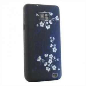 TPU Hülle / Skin für Samsung Galaxy S2 i9100/ i9105 - Design: Blue White Flower