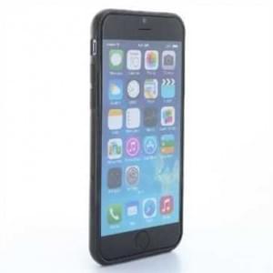 TPU Silikon Hülle Tasche für Apple iPhone 6, iPhone 6S - Schwarz